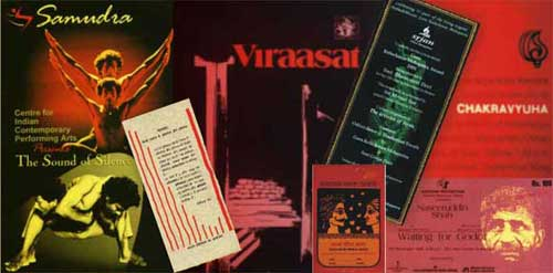 Posters and Invitations archived at Natarang Pratishthan
